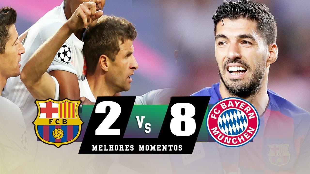 Barcelona 2 Vs 8 Bayern München (UEFA Champions League) Highlights